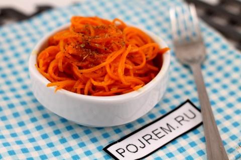 Рецепт: морковь по-корейски …