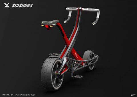 Складной велосипед-ножницы