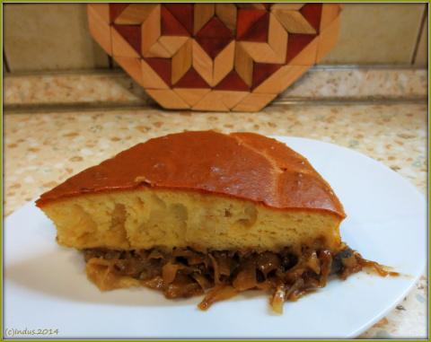 Заливной пирог с тушёнкой