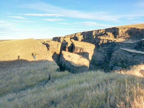 В США появилась загадочная многометровая трещина в земле