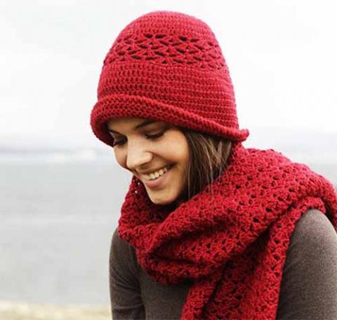 шляпка и шарф