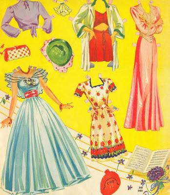 Бумажные куклы с одеждой для…