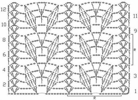 Узоры с листьями для вязания крючком