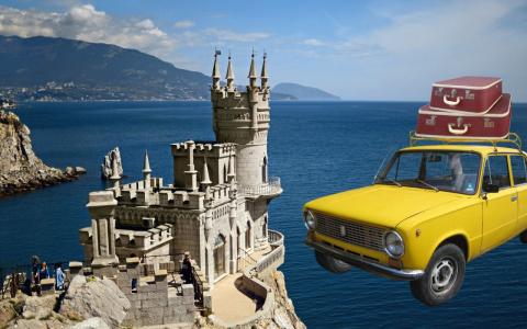 Оптимальная автомобильная дорога в Крым, пока мост не построили