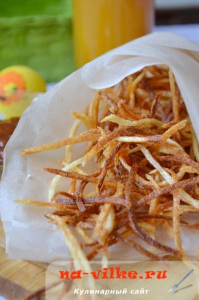 Хворост из картофеля