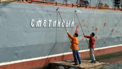 Российский сторожевой корабль «Сметливый» обстрелял турецкое судно