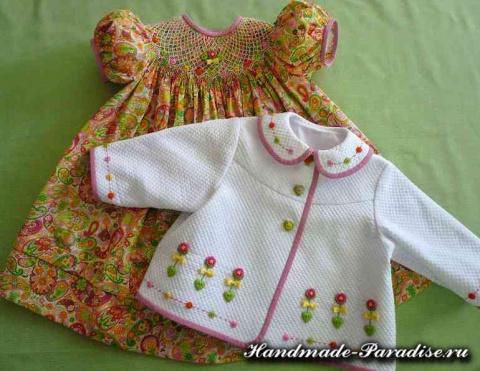 Очаровательные розочки рококо для детской одежды