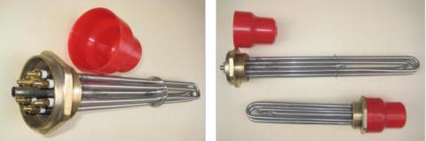 Трубчатый электрический нагревательный элемент блочного типа (ТЭНБ) для электрокотла отопительного