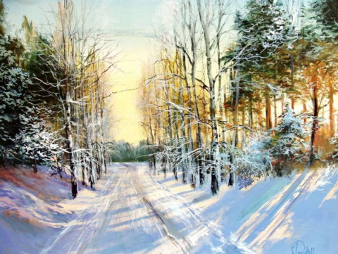 Художник Александр Леднев. Зима