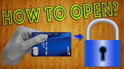 Как открыть замок пластиково…