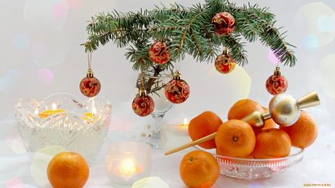 Апельсиновый и мандариновый декор на Новый год!