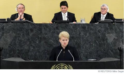 Президент Литвы Даля Грибаускайте предложит лишить права вето членов Совбеза ООН