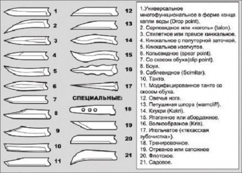 Анатомия ножа: клинок и рукоятка