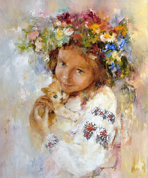 Тихое утро, художник Федяев Николай