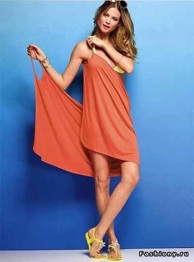 Пляжное платье из куска ткани за 5 минут