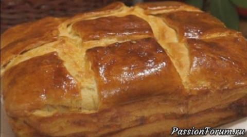 Вкусный дрожжевой пирог с сыром