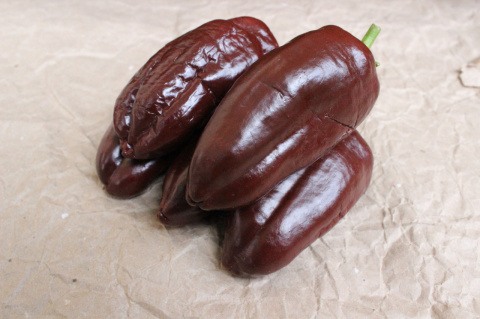 Наш урожай: перец Шоколадный Георгеску