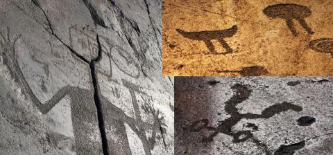 Онежские петроглифы изобража…