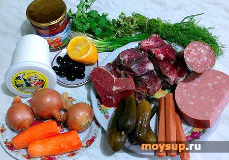 Классический рецепт приготовления сборной мясной солянки