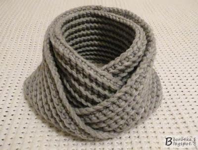 Необычный и простой шарф-сну…