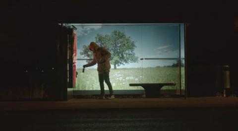 Coca-Cola запустила в Швеции машину счастья
