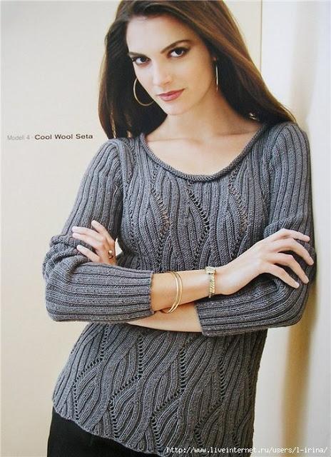 2 стильных пуловера спицами
