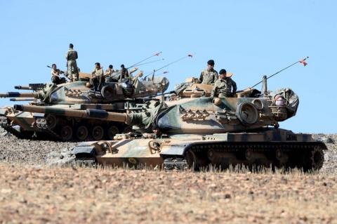 Турецкая армия вторглась в Сирию и захватила часть ее территории – видео