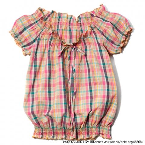 Выкройка блузки или платья д…