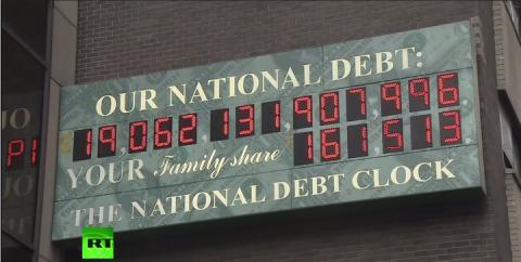 Национальный долг США превысил $19 трлн
