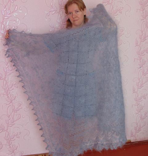 Платки и палантины из козьего пуха от Марины Солнце.