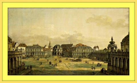 Двор Цвингера в Дрездене.До 1754г.