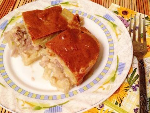 Мясной пирог за 15 минут