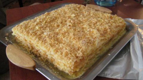Торт «Наполеон» домашний с з…