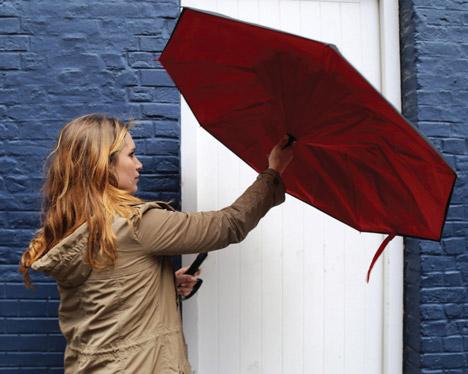 Правильный зонт должен быть вывернут наизнанку
