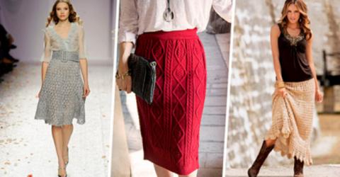 Вязаная юбка — юбка для смел…