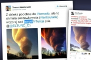 Облако-торнадо зависло над Турцией
