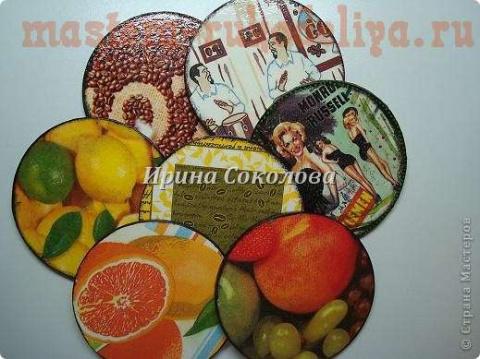 Подставки под чашки из CD-дисков