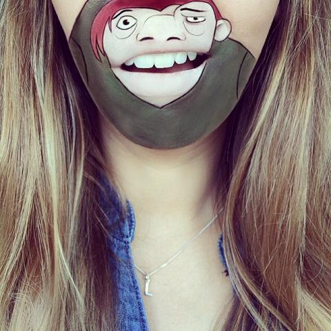 Мультипликационные герои губ…