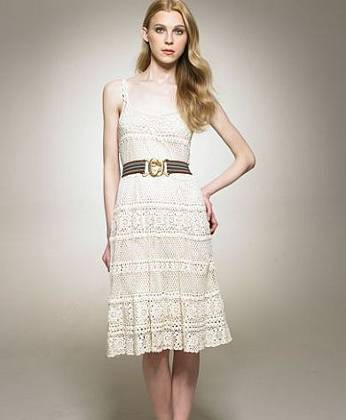Вязаное крючком платье от Евы Лонгория
