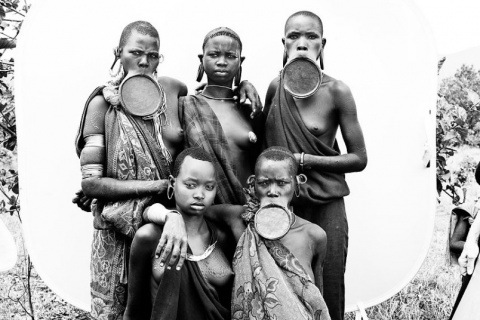 Жителей долины Омо в Эфиопии