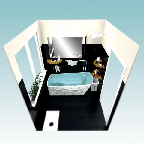 Складная ванная комната POPUP для очень маленькой квартиры