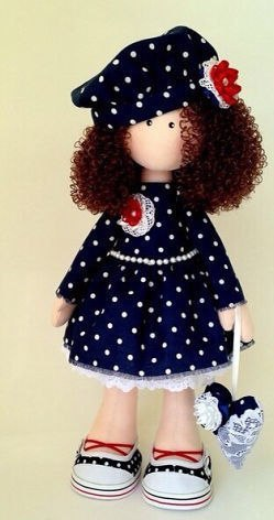 Текстильная кукла. Выкройка