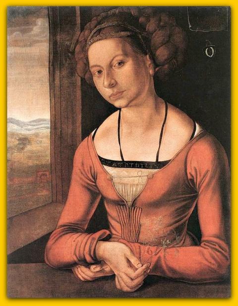 Девушка с заплетёнными волосами(1497)