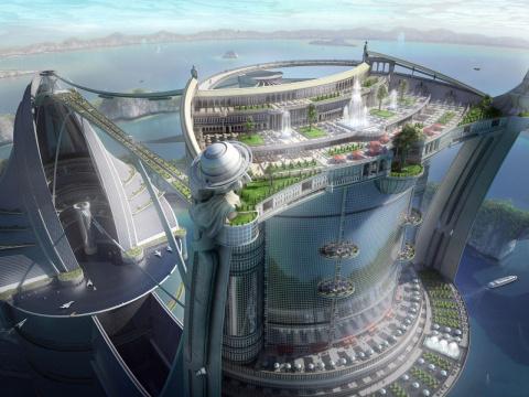 Города будущего: 20 фантастических иллюстраций
