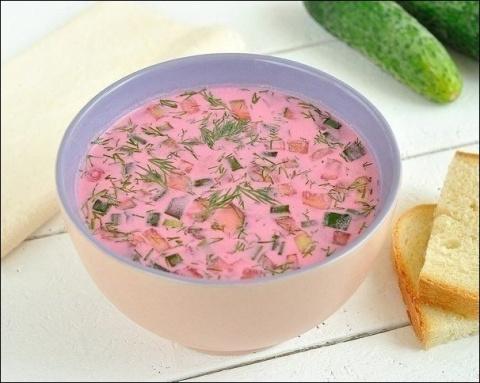 Холодный свекольный суп.