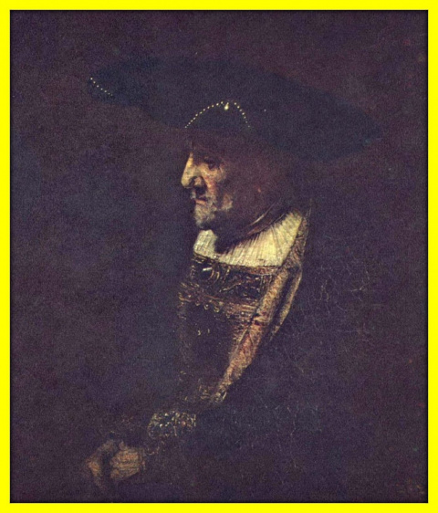 Портрет мужчины с жемчугом на шляпе.Ок.1667г.