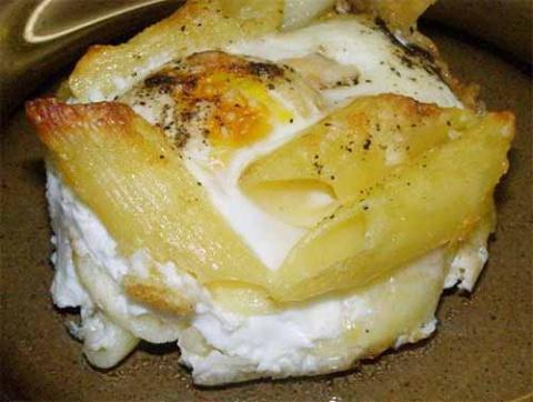 Быстрый завтрак из макарон