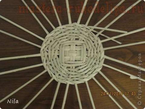 Варианты плетения дна корзинки