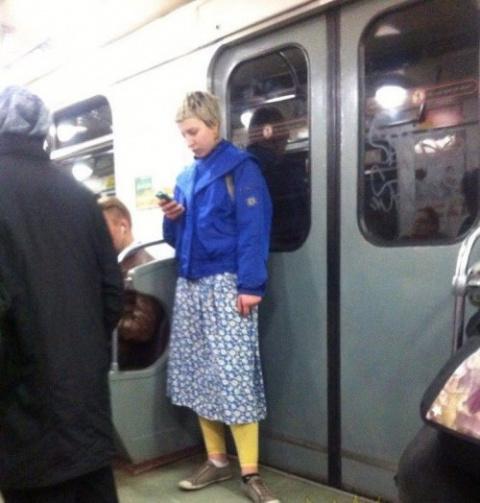 Необычные пассажиры в метро …