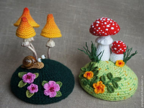 Игольница «По грибы»